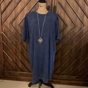 Doublezero mini t-shirt dress blue
